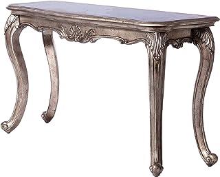 ACME Chantelle Sofa Table (No Granite) - - Antique Platinum
