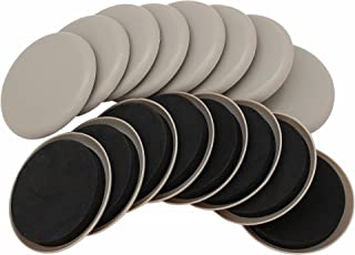 """Smart Surface 8295 3-1/2"""" Round Carpet Furniture Sliders 16-Pack in Resealable Bag"""