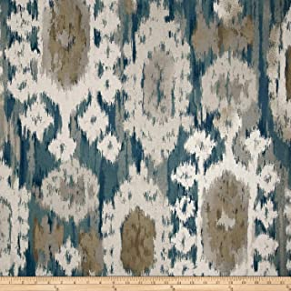 Robert Allen 0573524 @ Home Ikat Reflect AegeanBasketweave Fabric by The Yard, Aegean