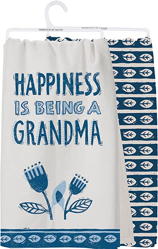 Primitives By Kathy Happiness Is Being A Grandma Dish Towel Set