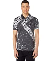 Versace Collection - Black Marble Key Polo