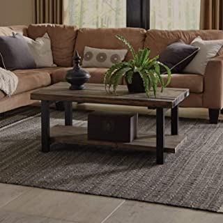 """Alaterre Sonoma Rustic Natural Coffee Table, 42"""", Brown"""