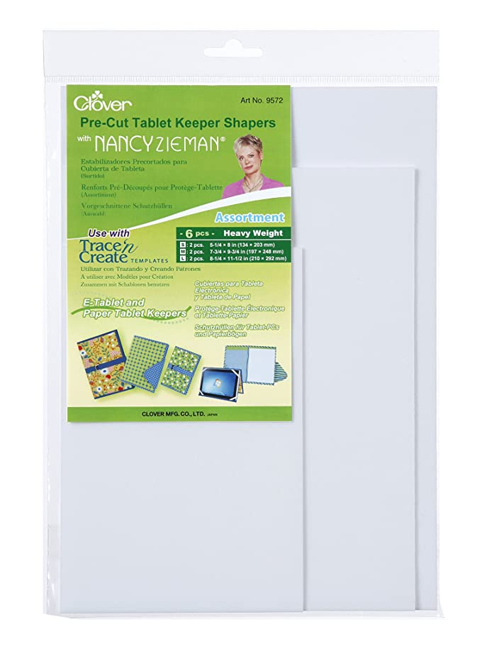 Clover 9572 Pre-Cut Tablet Keeper Shapers, Assortment
