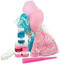 Nostalgia FSCC8 Cotton Candy Party Kit, 3 Flavors, 4 Reusable Cones, 10 Floss Bags