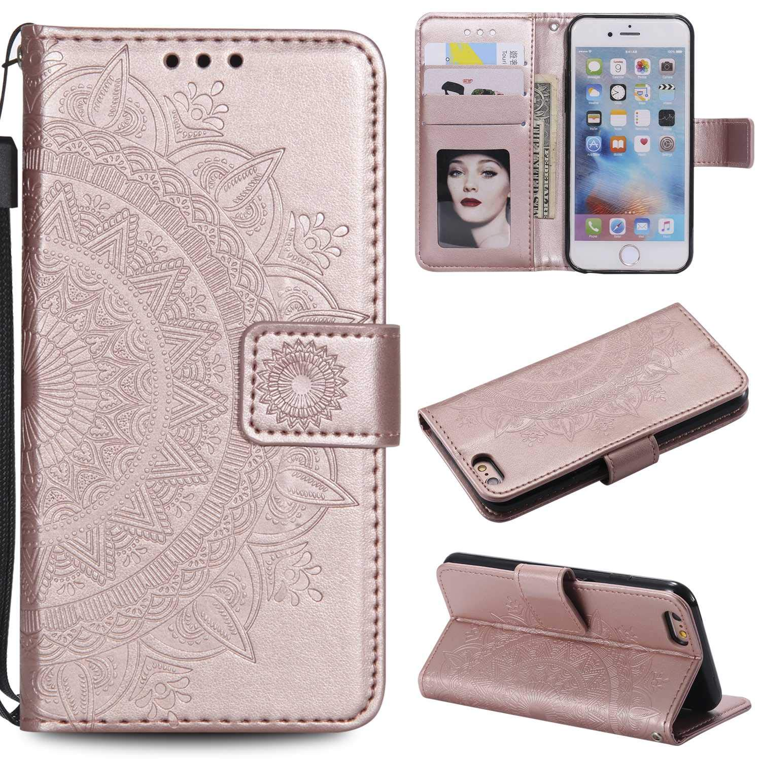 Case Galaxy S6 Bear Village Embossed PU Superior Leather 2021 new wit Design