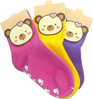 TUKA Calcetines Antideslizantes Unisex para bebés 1 a 3 años, ABS Calcetines para niños niñas, no-de la resbalón de agarre, calcetines de pie. TKB7000