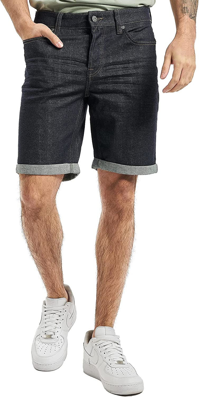 Only & Sons Men's Denim Regular Fit Summer Half Pant 3/4 Shorts Bottoms