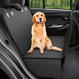 CREUSA® Pets Dog Back Seat Cover, Scratchproof Waterproof Dog Car Seat Covers Hammock Nonslip Durable Soft Backseat Protec...