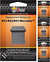Invisible Fence Collar Replacement Battery - New Improved Ultra Life Battery for Invisible Fence Brand Electric Dog Fence Collars (R21, R22, R51, Microlite, Computer Collar) - 4 Pack