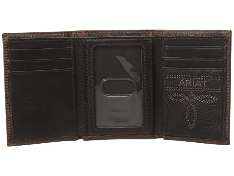 Marrón Tríptico Ariat Ariat Rowdy Shield Billetera q4n1OR