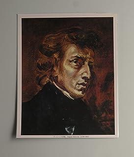 BiblioArt Series ショパンの肖像画1ーA5版サイズ額絵