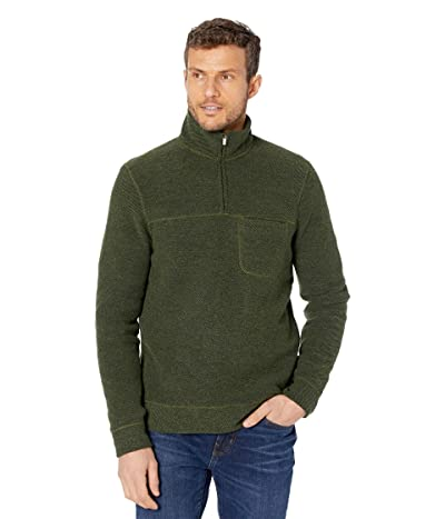 Toad&Co Breithorn 1/4 Zip Sweater (Olive) Men