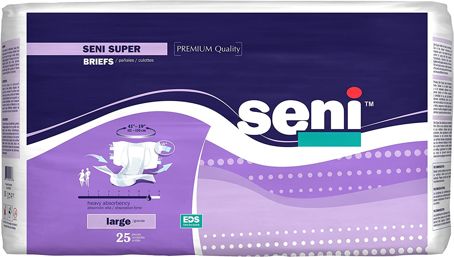 Seni Super Adult Briefs OFFicial shop New sales for Incontinence Count 25 Large Heavy