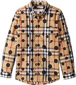 Burberry Kids Mini Fred Regular Fit Shirt (Little Kids/Big Kids)
