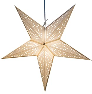 Frozen Paper Star Lantern with 12 Foot Power Cord Included