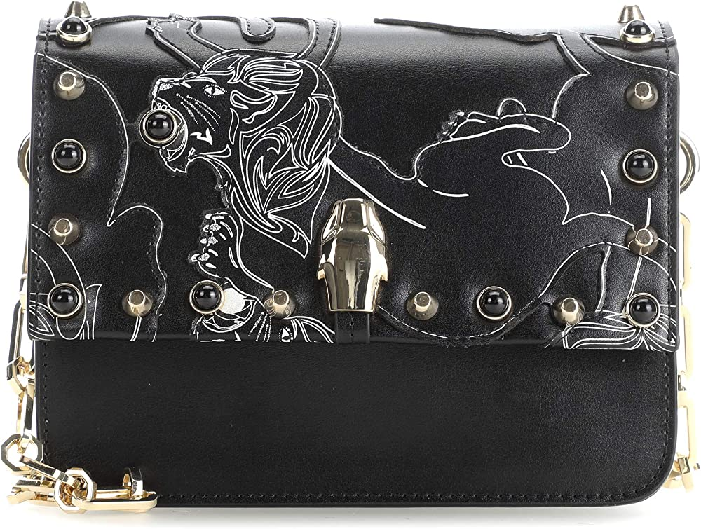 Roberto cavalli class milano remix, borsa a spalla per donna,in pelle C83PWCRR0052-999