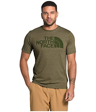 The North Face Short Sleeve Half Dome Tri-Blend Tee (Burnt Olive Green Heather) Men