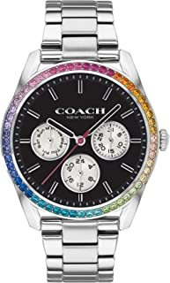 Coach Women'S Black Dial Stainless Steel Watch - 14503469