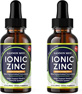 Ionic Zinc 2 Pack Liquid Drops| 220+ Day Zinc Supply| Easy to Take| Adult & Child Serving Size| Immune + Skin + Reproductive Health Support | Maximum Absorption| Natural Orange Flavor Vegan *USA MADE*