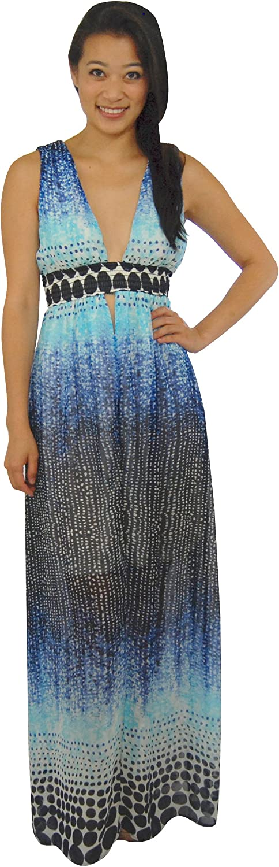 Zoozie LA Premium Sexy Deep V Maxi Dress