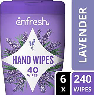 Enfresh Fragrance Free Naturally Derived Hand Wipes - Wipes Away 99.9% of Germs