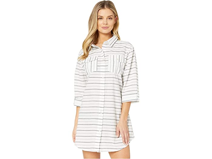 Women/'s Swimwear Dotti Plus Size Travel Muse Gauze Shirt Cover-Up