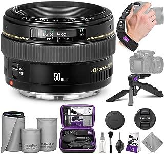 Canon EF 50mm f/1.4 USM Standard Telephoto Lens with Altura Photo Essential Accessory Bundle