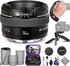 Canon EF 50mm f/1.4 USM Standard Telephoto Lens with Altura Photo Essential Accessory Bundle