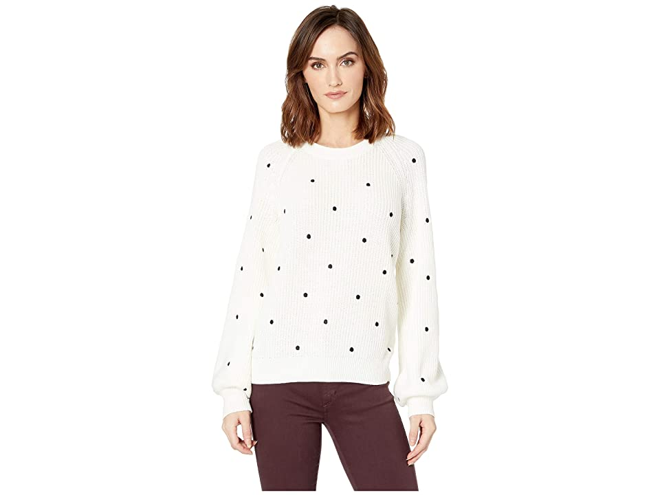 Lucky Brand Polka Dot Sweater (White Multi) Women