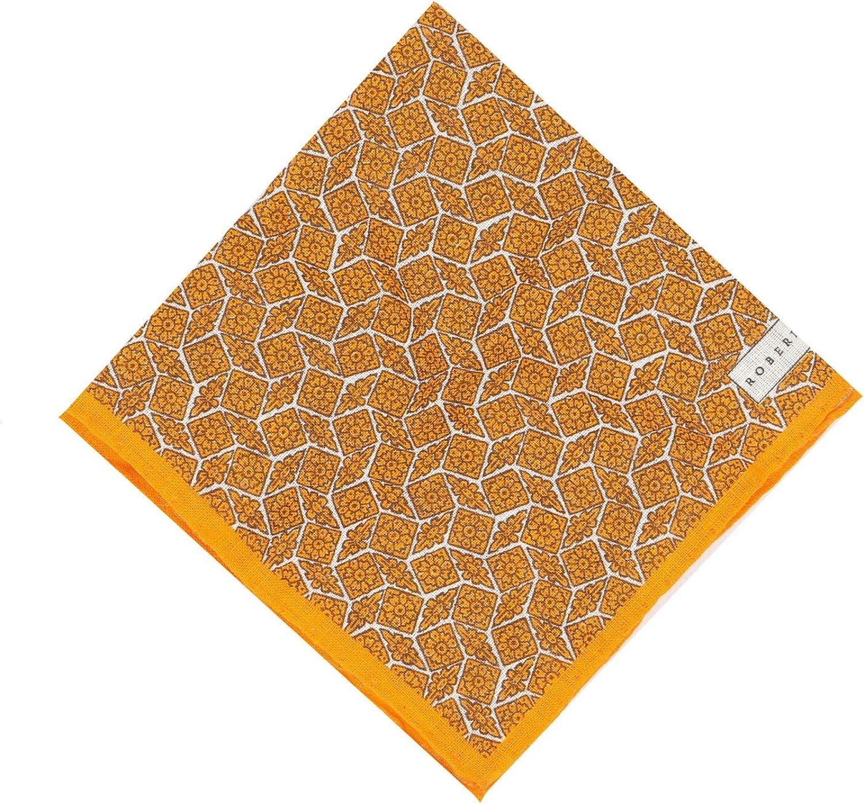 Robert Talbott Geometric Floral Handkerchief