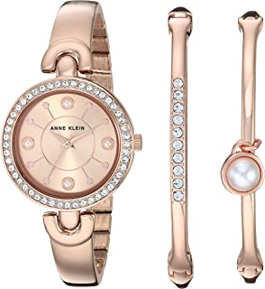 Women's Swarovski Crystal Accented Watch and Bangle Set, AK/3288