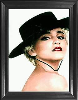 Madonna Costume 3D Poster Wall Art Decor Framed Print | 14.5x18.5 | Lenticular Posters & Pictures | Memorabilia Gifts for Guys & Girls Bedroom | True Blue Rebel Heart Tour Vinyl Pop Music Album Cover