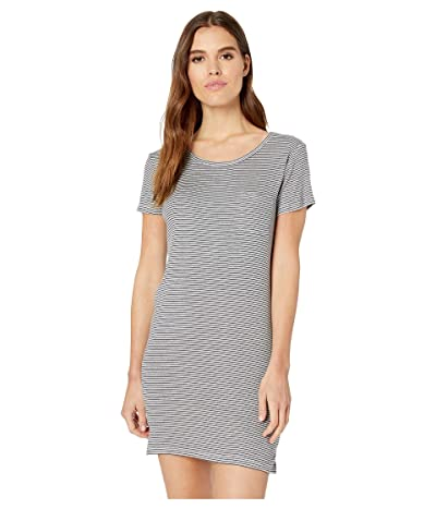 Splendid Short Sleeve Stripe Pocket Dress (Navy) Women