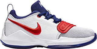 Nike Kids' Preschool PG 1 Basketball Shoes (White/Red)