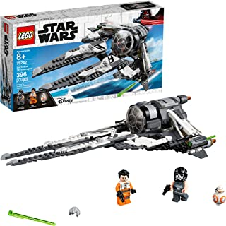 LEGO Star Wars Resistance Black Ace TIE Interceptor 75242 Building Kit, New 2019 (396 Pieces)