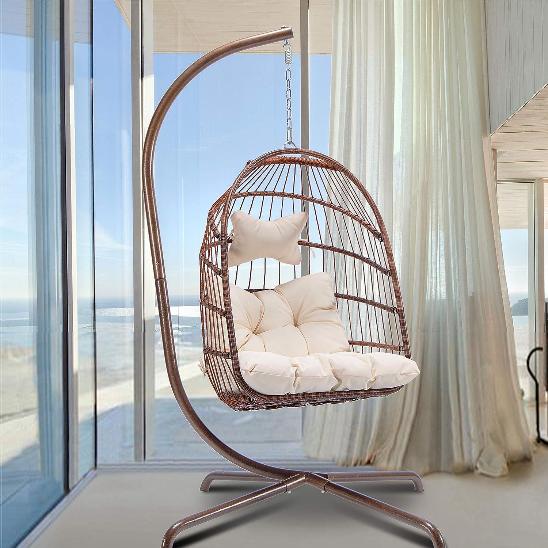 in Door Outdoor Patio Wicker Swing Egg 至高 WEB限定 Hanging Chair