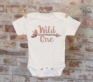 Wild One Leaf Arrow Onesie®, Boho Onesie, Tribal Style Onesie, Fall Onesie, Funny Onesie, Cute Onesie, Boho Baby Onesie