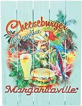 Margaritaville Outdoor Indoor/Outdoor Wood Wall Art Decor, Cheeseburger in Paradise