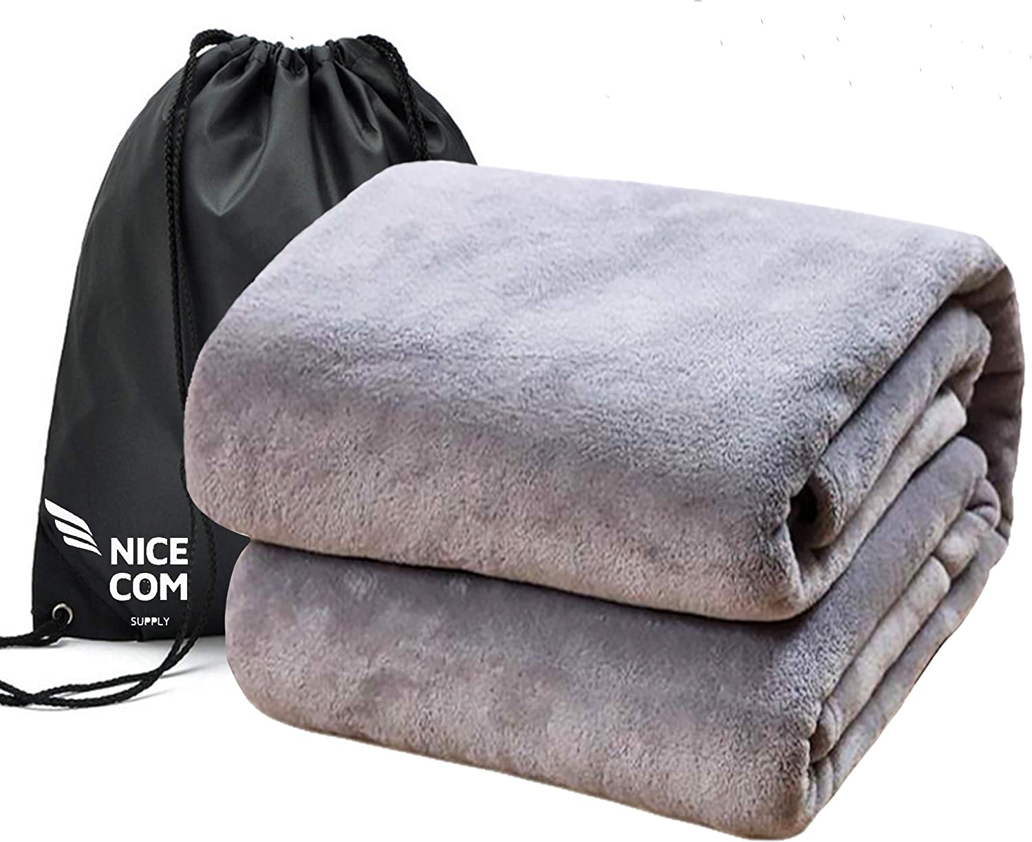 Large Travel Blanket 60x80 Backpack Size Bed Gre Special Campaign Twin Max 71% OFF