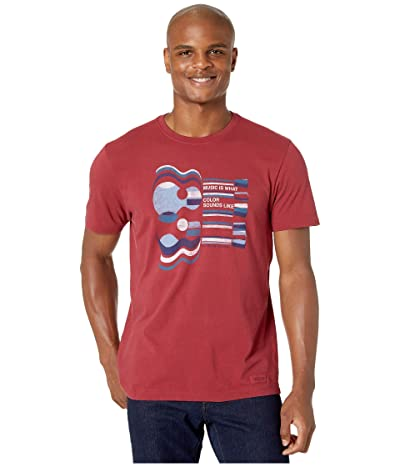 Life is Good Music Is What Color Sounds Like Crushertm Tee (Cranberry Red) Men