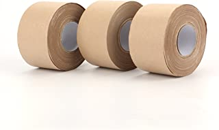 Fasmov Kraft Paper Tape, Shipping Packaging Tape,Ideal for Sealing and Packaging- 2.4 Inches x 114 Feet(Pack of 3)