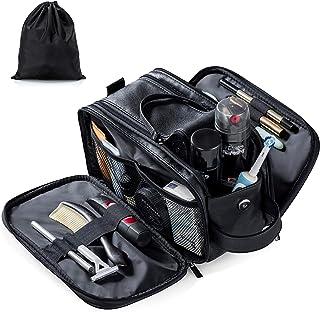 کیف لوازم آرایشی و بهداشتی Elviros برای مردان بزرگ تراش مسافرتی کیت Dopp مقاوم در برابر آب لوازم بهداشتی حمام Organizer PU کیف های لوازم آرایشی چرمی