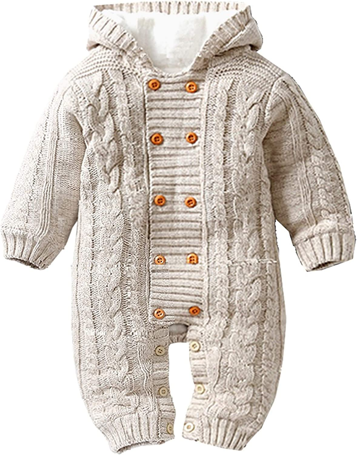 2021 autumn and winter new Newborn Baby Ranking TOP3 Girls Boys Winter Fleece Jumpsuit Thicke Lined Warm