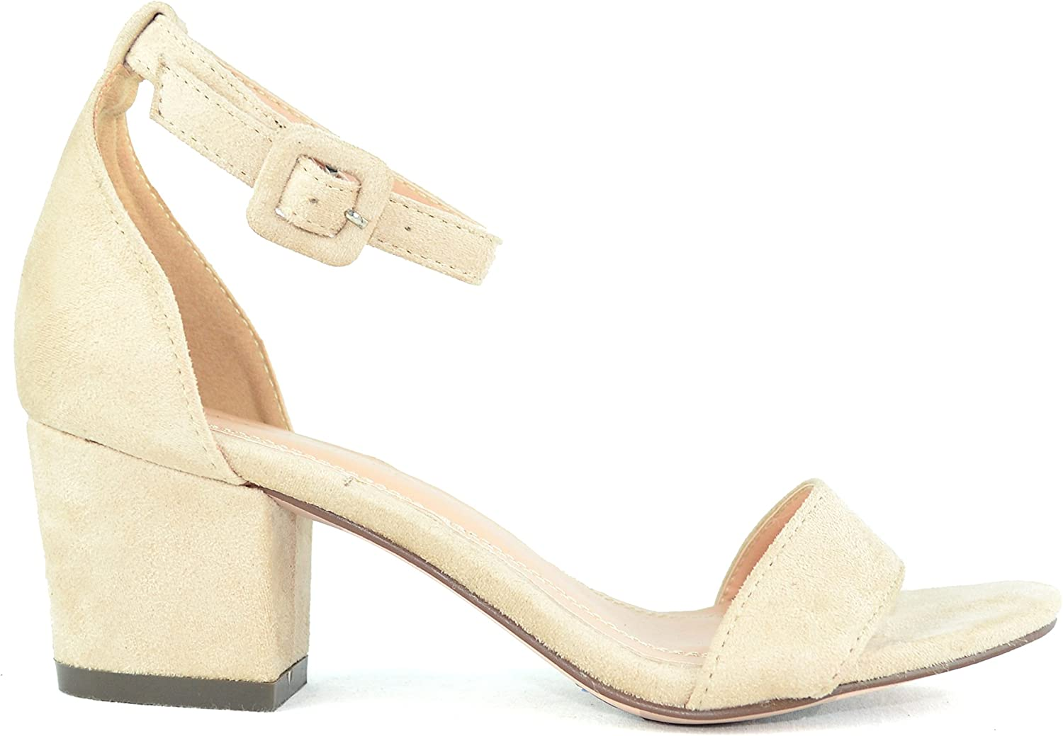 Chase & Chloe Venus-4 Ankle Strap Women's Low Heeled Sandal