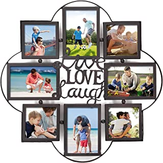 Adeco -Opening Decorative Iorn Metal Wall Hanging Collage Picture Photo Frame