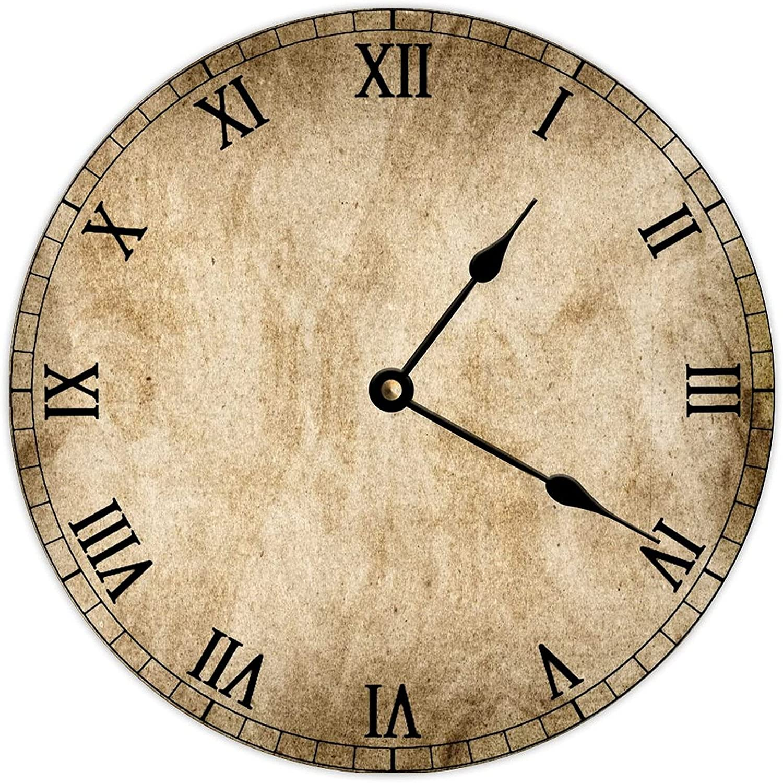 San Diego Mall Discount is also underway PotteLove Decorative Round Wood Hanging Art Clock Wall B Vintage