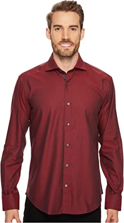 Long Sleeve Shaped Fit Point Collar Shirt