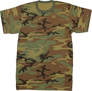 Military Camouflage T-Shirt Army Fashion Color Camo Crewneck Tee Short Sleeve Top with ArmyUniverse Pin