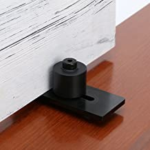 SMARTSTANDARD Sliding Barn Door Bottom Adjustable Floor Guide Roller, Black, Super Smoothly and Quietly, Easy to Install