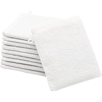 Zollner 10 manoplas de baño, algodón, 16x21 cm, blanco, otros colores: Amazon.es: Bebé